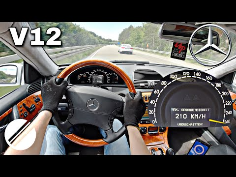 Mercedes-Benz CL 600 BRABUS V12 C215 TOP SPEED DRIVE ON GERMAN AUTOBAHN 🏎