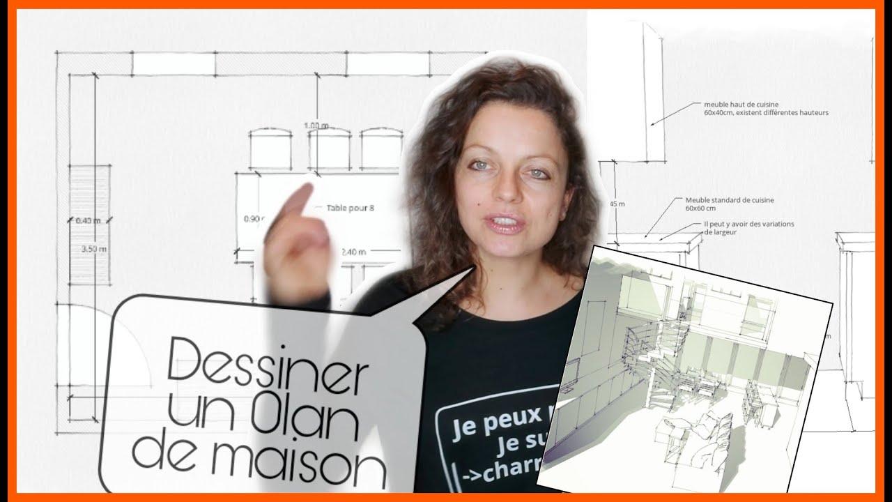 Comment Dessiner Un Plan De Maison En 2d Ou 3d Avec Sketch Up Ou A La Main Youtube