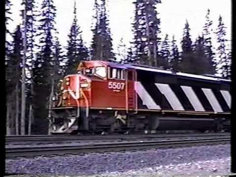 very very RARE!!  BC rail tumbler ridge branchline cab ride in a emd gf6c locomotive.part 1