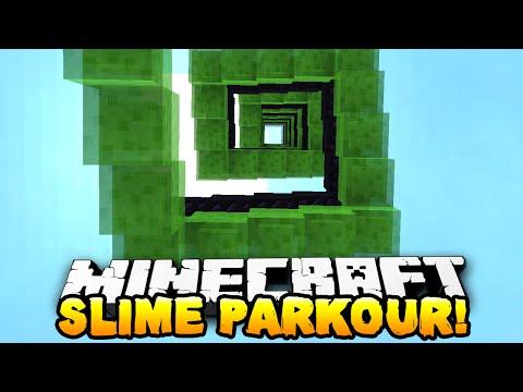 Minecraft - ULTIMATE SLIME PARKOUR! (Slime Bounce Craziness)  w/ Preston & Kenny