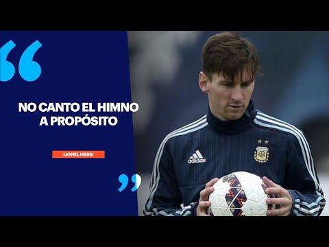 ¿Por qué Lionel Messi no canta el himno nacional?