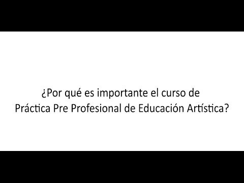 PRÁCTICA PRE PROFESIONAL 1 DE EDUCACIÓN MUSICAL 2015