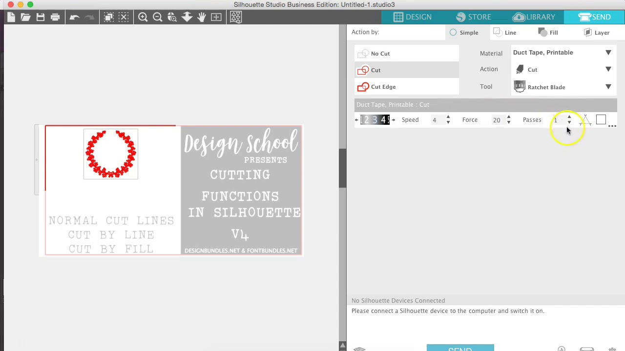 Cutting functions with new Silhouette V4 software | Design Bundles
