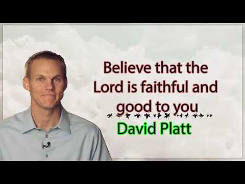 Pastor David Platt - You don't have to be unhappy in order to keep somebody else happy