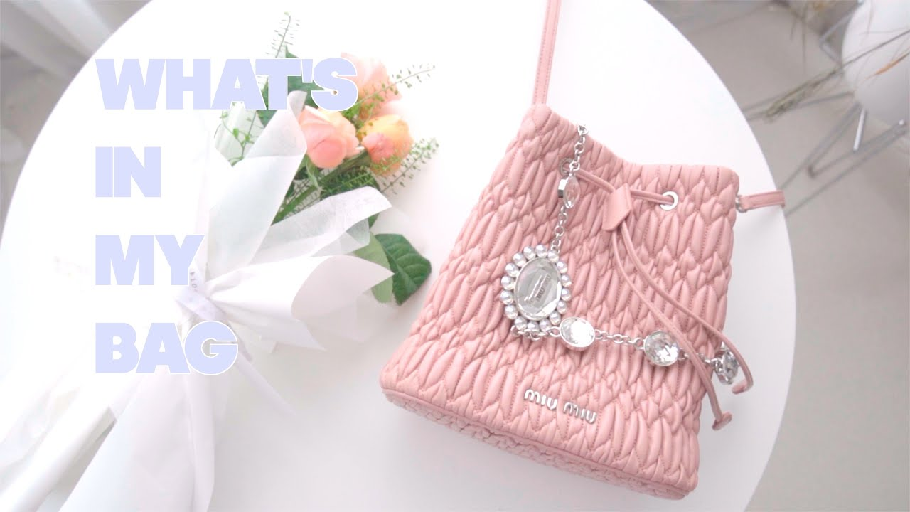 👛A pink lover's bag & car | What's in my BAG & CAR 💗 | The One, sit next to me👛 Perfume, MiuMiu
