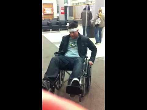 Hilarious drunken hospital wheelchair experience