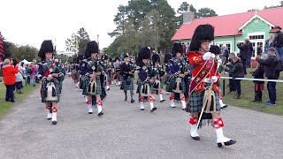 Scotland The Brave As Ballater Pipe Band Lead The Parade To The 2019 Braemar Gathering Opening