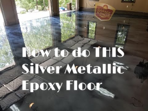 Ghost Silver Metallic Epoxy Flooring