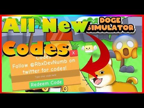 : v2Movie : *ALL* New Doge Simulator Codes (2019)  ROBLOX