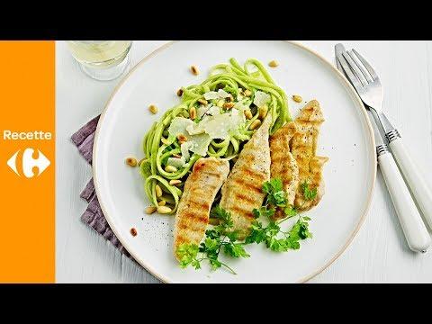 linguine-au-poulet,-sauce-à-l'avocat-et-aux-épinards-frais