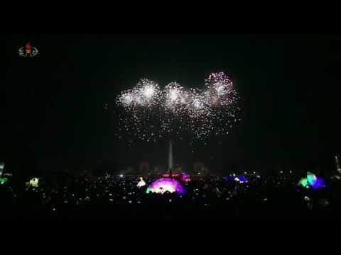 Pyongyang FIREWORKS 2018 - North Korea FIREWORKS 2018 | New Year's Eve