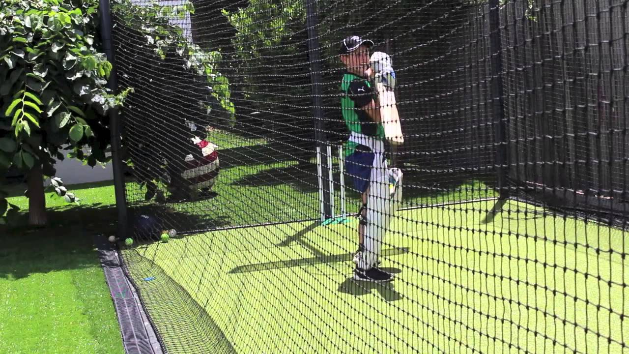 cricket spin net session henryatv9 youtube
