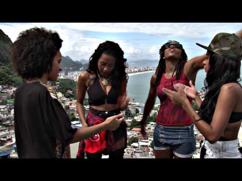 Female hip hop group Pearls Negras rap about life in a Brazilian slum