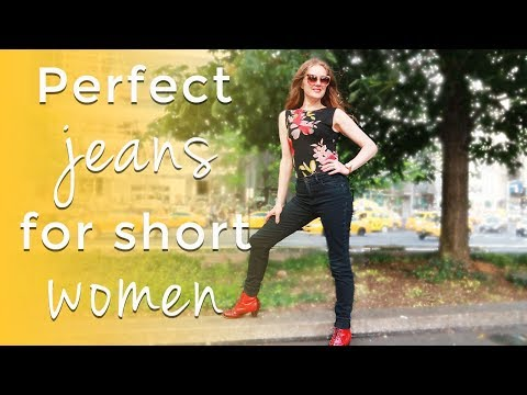 How to dress when you are short for women over 40 - perfect jeans for short women over 40