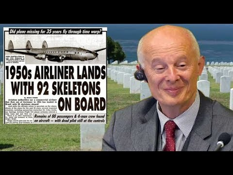 1950s AIRLINER LANDS WITH 92 SKELETONS ONBOARD
