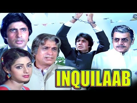 Inquilaab Full Movie | Amitabh Bachchan Hindi Action Movie | Sridevi | Bollywood Action Movie