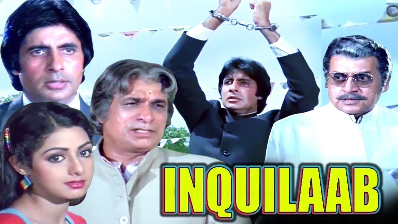 Download Inquilaab Full Movie   Amitabh Bachchan Hindi Action Movie   Sridevi   Bollywood Action Movie