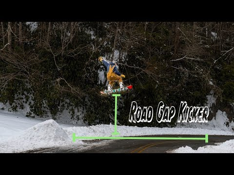 CRAZY Road Gap On Snowboard | Boone, NC