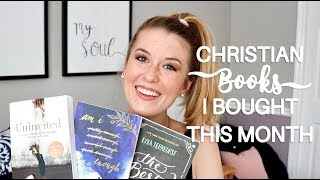 CHRISTIANS BOOKS I BOUGHT THIS MONTH | Christian Books for Women