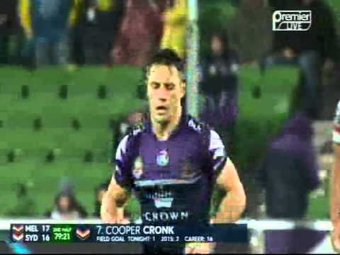 Cooper's drop-goal v Roosters