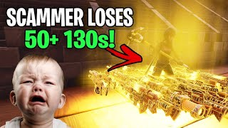 The Richest Scammer Ever Loses 50 130s! (Scammer Get Scammed) Fortnite Save The World