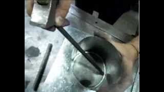 Врезка трубы из тонколистовой стали в плоскость 3 серия(Один из способов присоединения (врезки) трубы из тонколистовой стали к пластине., 2013-06-27T17:29:58.000Z)
