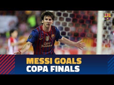 SEVILLA - BARÇA   Messi's strikes in Copa del Rey finals