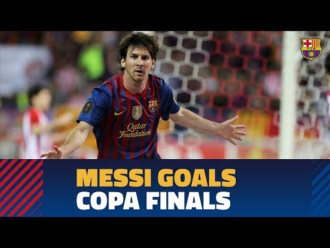 SEVILLA - BARÇA | Messi's strikes in Copa del Rey finals
