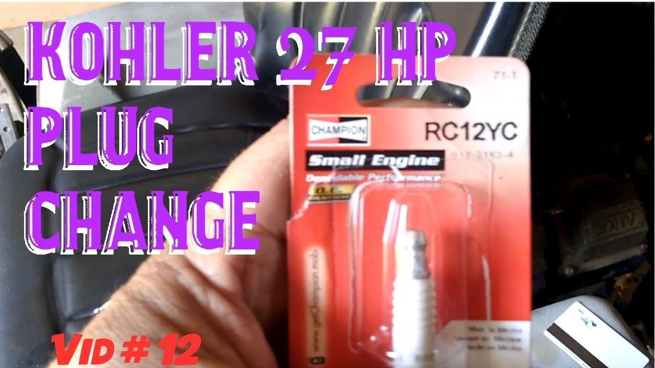 X Mark Kohler 27 HP spark plug change