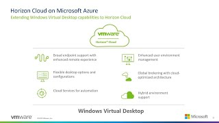Horizon Cloud on Microsoft Azure: Extending Windows Virtual Desktop | THR1102