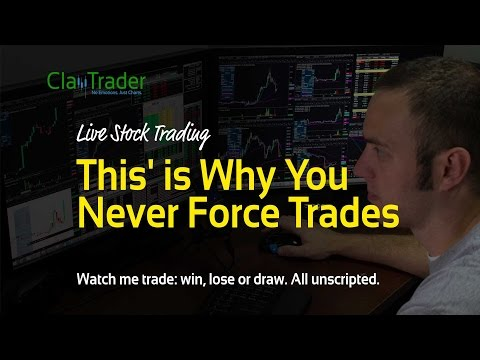 """Live Stock Trading - """"This"""" is Why You Never Force Trades"""