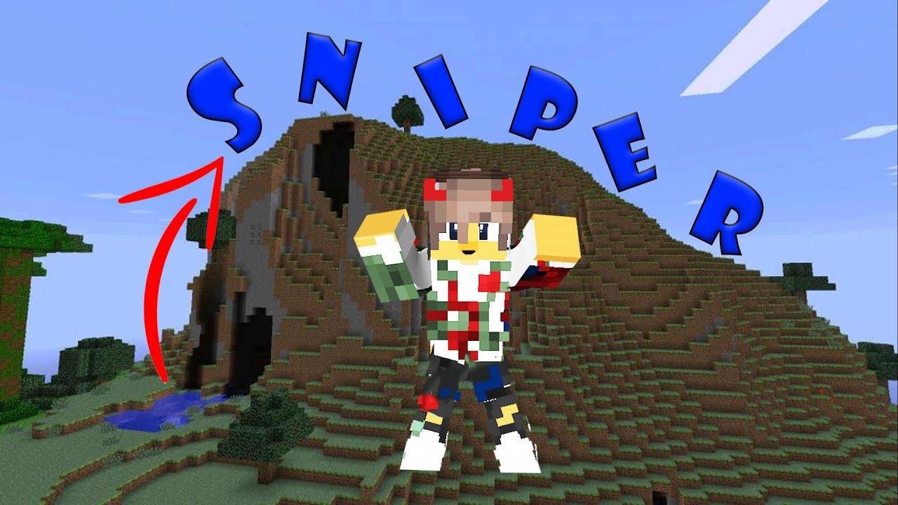 COSTRUIAMO LA SCRITTA SNIPER SULLA MONTAGNA - SniperCraft - Minecraft ITA
