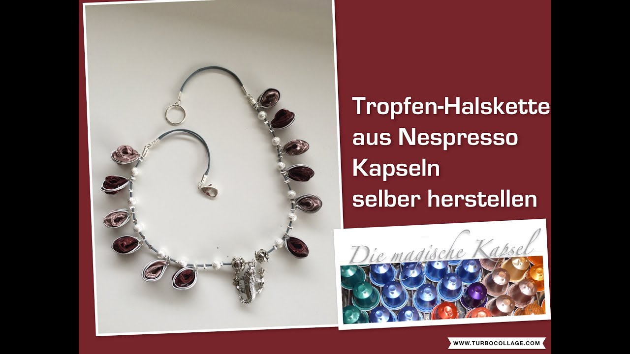 Diy Halskette Mit Tropfen Kapsel Schmuck Anleitung Die Magische