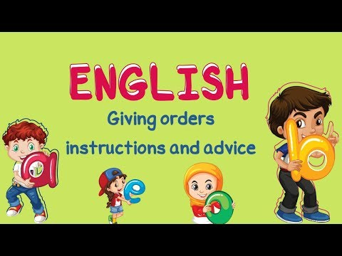English | Giving orders, instructions and advice