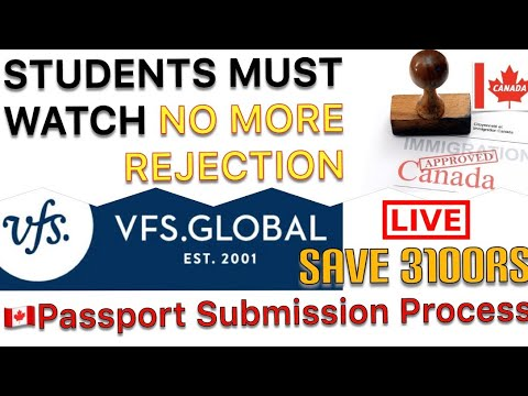 Process of passport submission for Canada Visa Stamp || Study Visa || 2019  Intake Canada