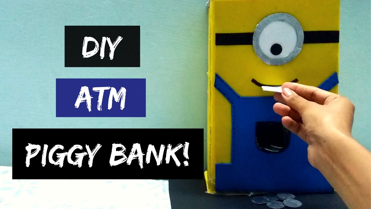 How to make atm piggy bank at home diy piggy bank atm for How to make a simple piggy bank