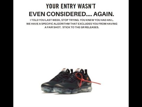 Why you never cop   Nike SNKRS   - YouTube