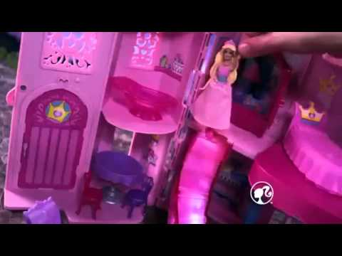Barbie the Princess and the Popstar Musical Light Up Castle Playset Commercial English