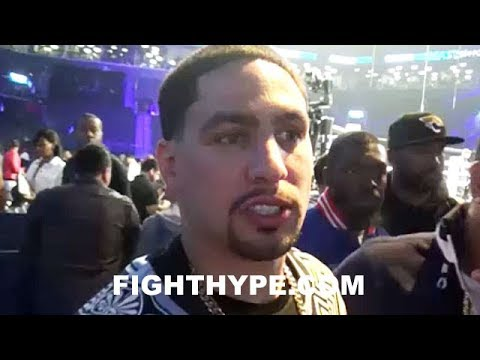 DANNY GARCIA REACTS TO ADRIEN BRONER AND JESSIE VARGAS FIGHTING TO A DRAW: