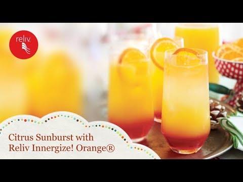 Reliv Holiday Mocktails: Citrus Sunburst