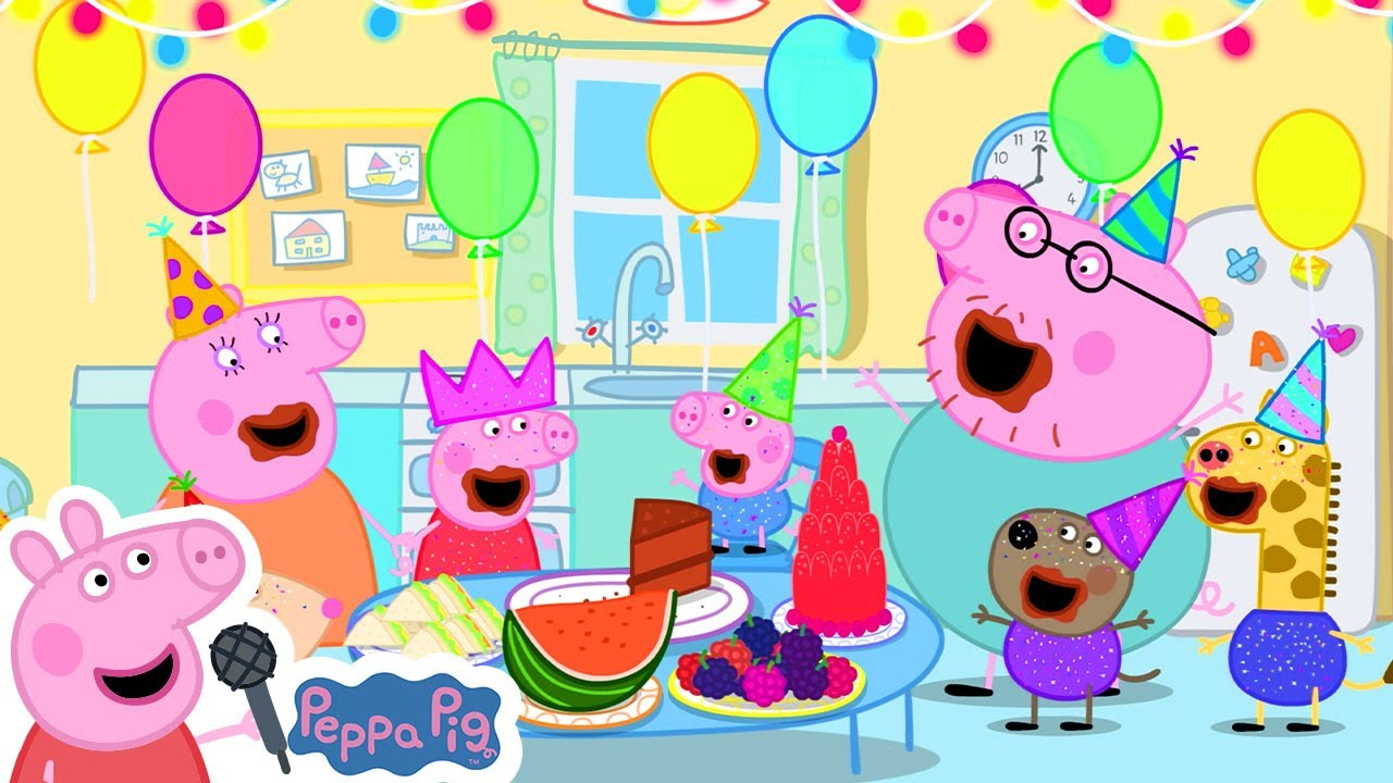 Peppa Pig Official Channel Happy Birthday To You Song With Peppa Pig Youtube