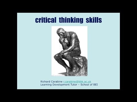 Study Skills Workshop 05 - Critical Thinking Skills