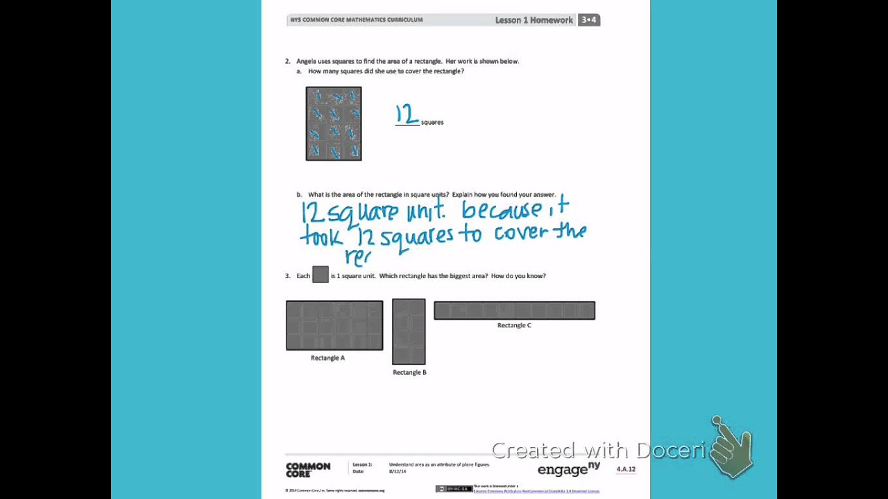 Engage NY Third grade Module 4 Lesson 1 back - YouTube