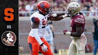 Syracuse vs. Florida State Football Highlights (2017)