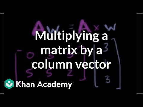 Multiplying a matrix by a column vector | Matrices | Precalculus | Khan Academy