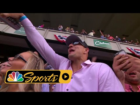 Patriots TE Rob Gronkowski cheers on Gronkowski at Belmont Stakes I NBC Sports