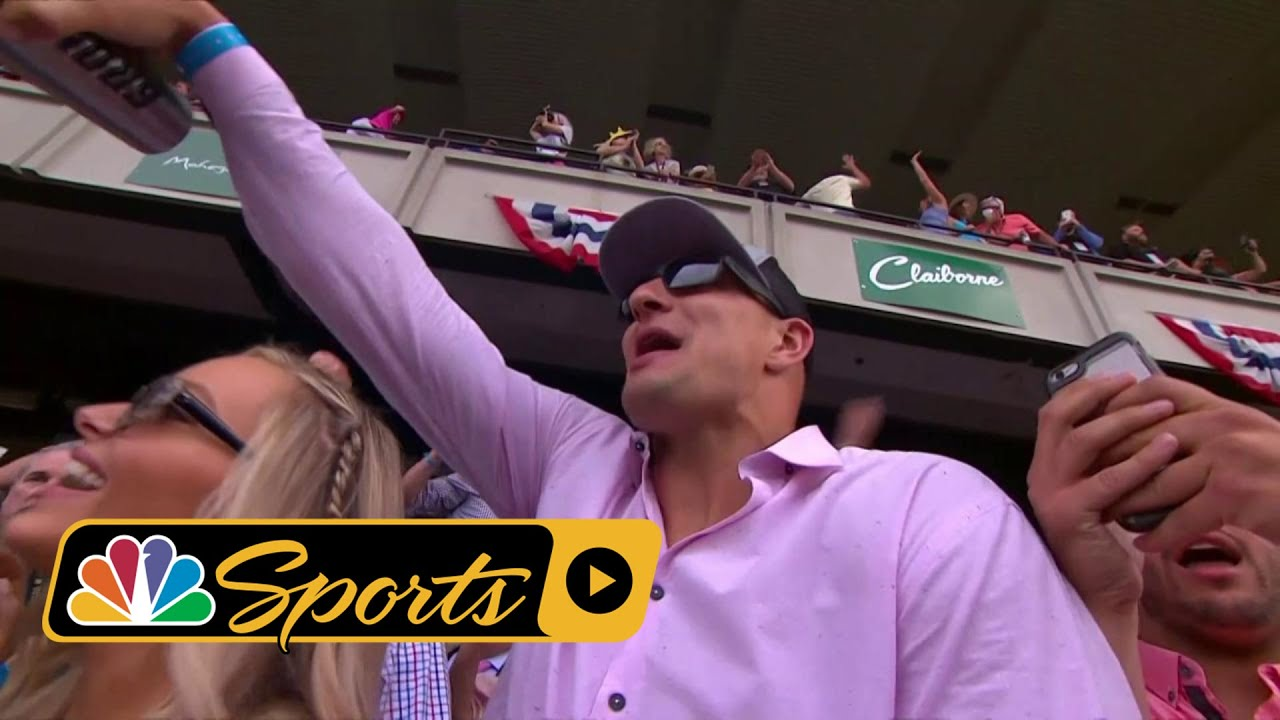 Patriots TE Rob Gronkowski cheers on Gronkowski at Belmont Stakes I NBC Sports