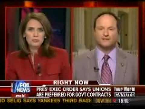 Congressman John Sullivan (R-OK) on Fox News Discussing H.R. 983 and Project Labor Agreements (PLAs)