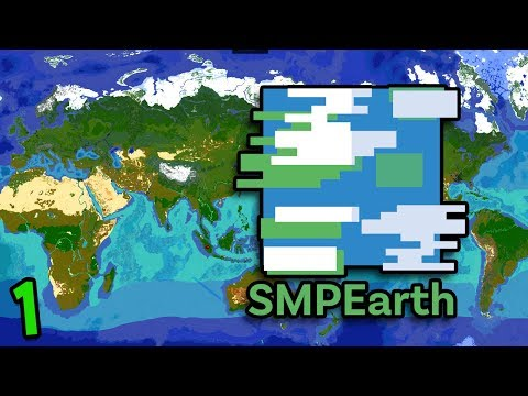 Minecraft But It's Literally A Map Of Earth (Minecraft SMP Earth #1)