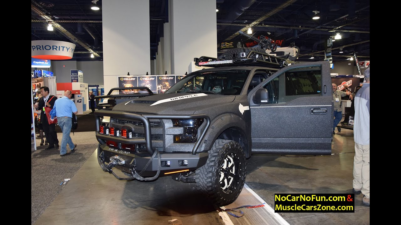 Off Road Bumpers F150 >> Ford Road Armor Truck with Machine Gun on top - 2015 Sema ...